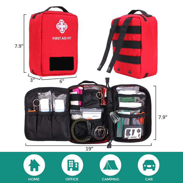 New Version First Aid Pouch Outdoor Survival Kit Medical Nylon Molle Bag Tactical Emergency Cover Hunting Travel Big Capacity 4
