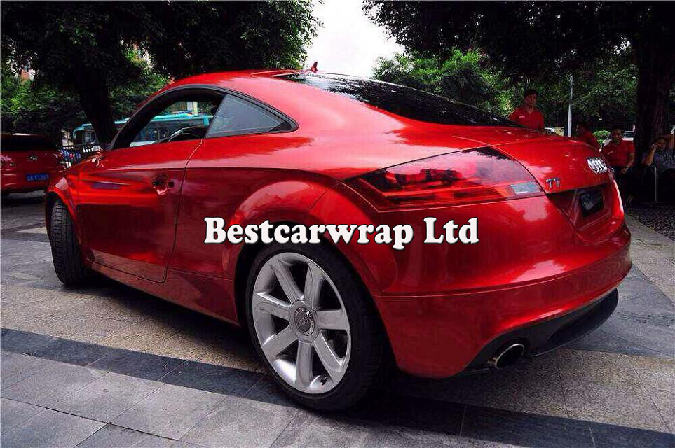 Premium Glossy Red Metallic Vinyl Blood Cherry Red Gloss Car