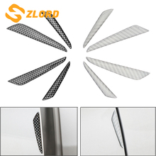 Zlord 4Pcs Car Door Edge Guard Strip Scratch Protector Anti-collision Sticker Universal Auto Rubber Mouldings