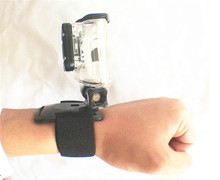 wrist band with three holes Super stationary slide Flexible and stable utility models for all gopro camera(China)