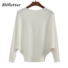 BHflutter Women Sweaters Winter Pullovers 2018 Batwing Casual Cashmere Sweaters Tops Female Knitted Jumpers pull femme hiver