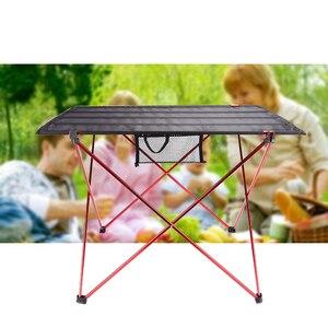 Image 1 - Hot Koop L Size Portable Opvouwbaar Opvouwbare Tafel Bureau Camping Outdoor Picknick Aluminium Ultra Licht