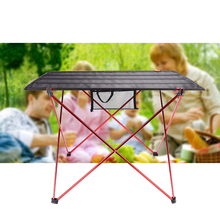 ホット販売lサイズポータブル折りたたみ折りたたみテーブルデスクキャンプ屋外ピクニックアルミ合金超軽量