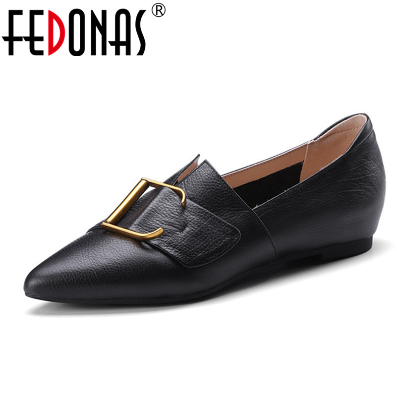 FEDONAS Brand Spring Autumn Women Flats Loafers Shoes Woman Retro Genuine Leather Casual Shoes Female Oxford Shoes For Women 2016 spring and autumn women s shoes female flat heel maternity shoes genuine leather shoes flats for women