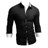 BBYES 2017 Nowych Mężczyzna Koszule Biznes Długim Rękawem Skręcić w dół Kołnierz 100% Bawełna Lato/Jesień Mężczyzna Koszula Slim Fit Popularnych Wzorów