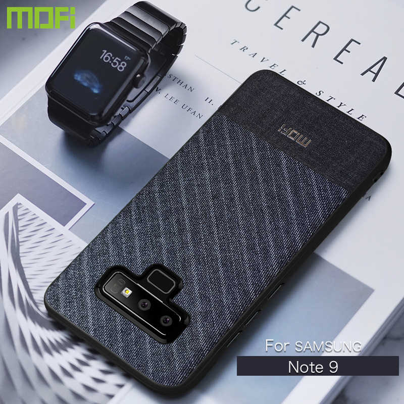 For Samsung Note 9 Case Mofi Note 9 Case cover Business Soft Cover For Samsung Galaxy Note 9 case Cloth Fabrics Handcrafted dark