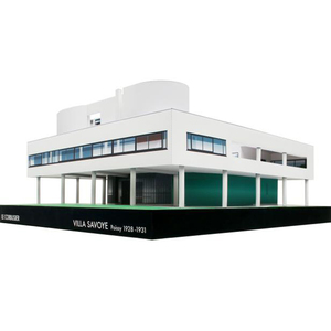 DIY Le Corbusier Villa Savoye Craft Paper Model 3D Architectural Building DIY Education Toys Handmade Adult Puzzle Game(China)