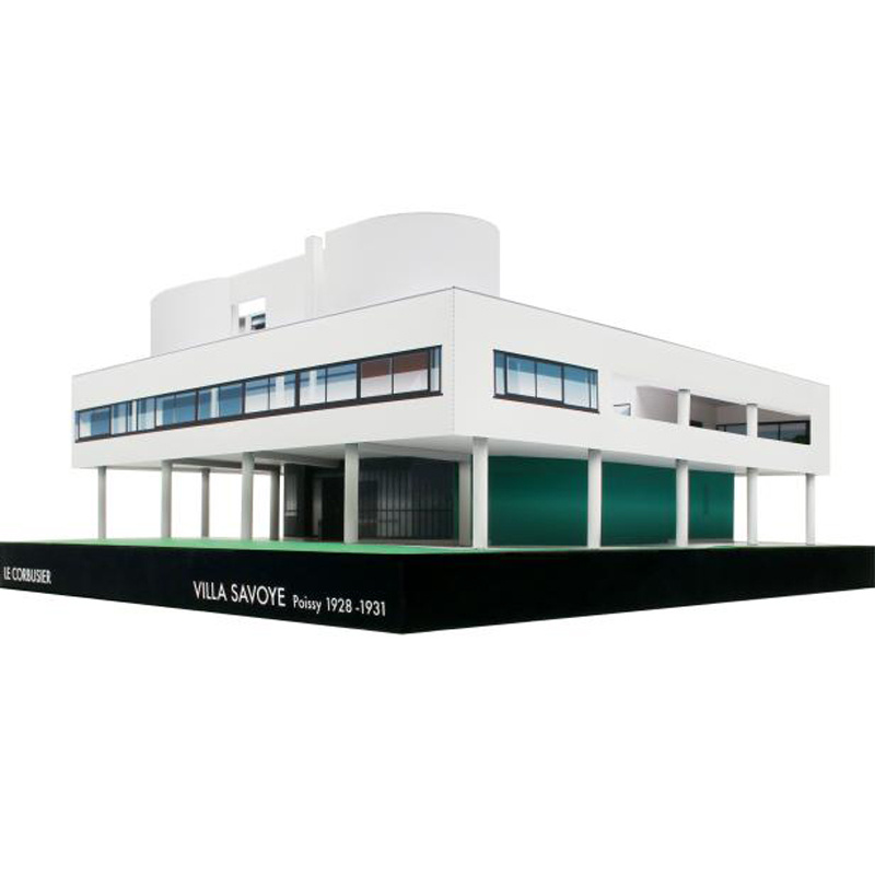 DIY Le Corbusier Villa Savoye Craft Paper Model 3D Architectural Building DIY Education Toys Handmade Adult Puzzle Game image