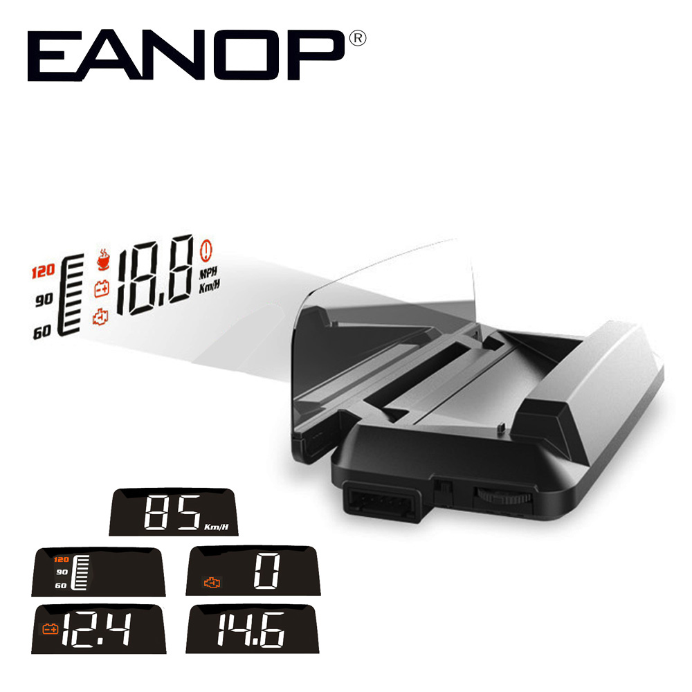 EANOP M30 Car HUD Head Up display OBD2 Windshield Projector Speedometer Alarm For Peugeot 307 Renault AUDI bmw e46 eanop m30 car hud head up display obd2 windshield projector speedometer alarm for peugeot 307 renault audi bmw e46