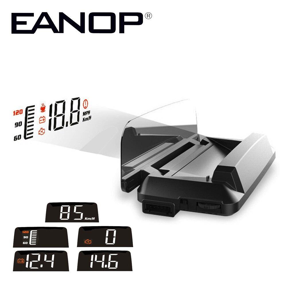 EANOPHUD M30 Voiture Pare-Brise HUD Heads up display Miroir Vitesse Projecteur Ordinateur de Bord Compteur De Vitesse de Surveillance D'alarme