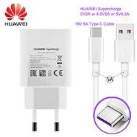 Original Huawei P10 Cargadores Del Teléfono Móvil para Huawei mate 9 Cargador Rápido 4.5 V 2A Cargador USB 2A Rápida Con 1 M USB Tipo de Cable C