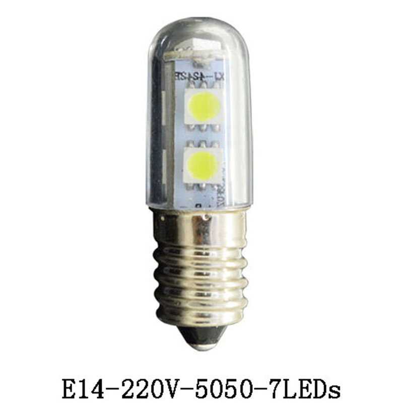 E14 1.5W 3W 5W 7W 9W Bulb Refrigerator Light Fridge Lamps SMD 3014 Crystal Spotlight Corn Pendant Lights Cool White AC 200-240V 5w g9 45 x smd 3014 6500k silicone led corn lamp crystal spotlight bulb