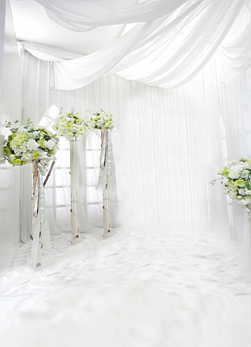 Wedding Photography Studio Background Cloth Pictures Korean White Is Pure And Fresh Indoor