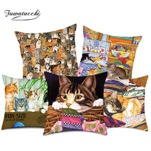 Fuwatacchi Cute Animal Cushion Cover Dog Cat Pillow For Home Chair Decorative New 2019 Pillows case 45 * cm