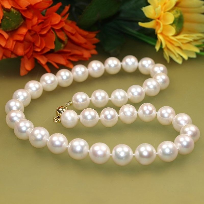 Wholesale price 16new ^^^^womans gift AAA 10-11mm White Natural Freshwater Cultured Pearl NecklaceWholesale price 16new ^^^^womans gift AAA 10-11mm White Natural Freshwater Cultured Pearl Necklace