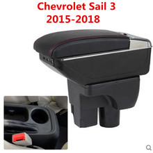 Центральный подлокотник большое пространство + люкс + подлокотник с разъемом USB коробка для хранения с подстаканником светодио дный USB подходит для Chevrolet Парус 3 2015 -2017