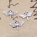 99 Centavos 12 pcs Encantos da libélula 16*22mm Antigo Fazendo pendant fit, Tibetano Do Vintage de Prata, DIY pulseira colar