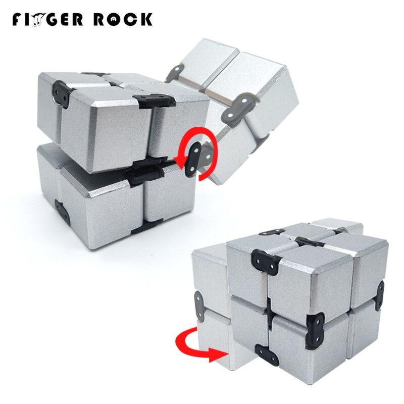 Hot Original Infinity Cube 2 Metal High Quality EDC Creative Fidget Cube Toy Anti Stress Relief Hand Spinner Adult ADHD Oyuncak