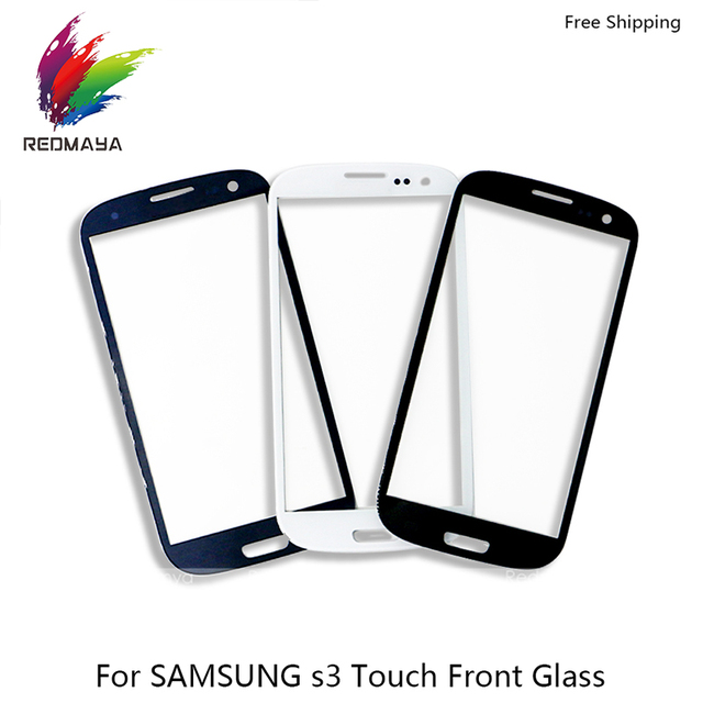 50pcs/lot Front Glass For Samsung Galaxy S2 I9100, S3 I9300, S3 MINI I8190 Outer Glass Touch Panel Digitizer Sensor Screen Parts