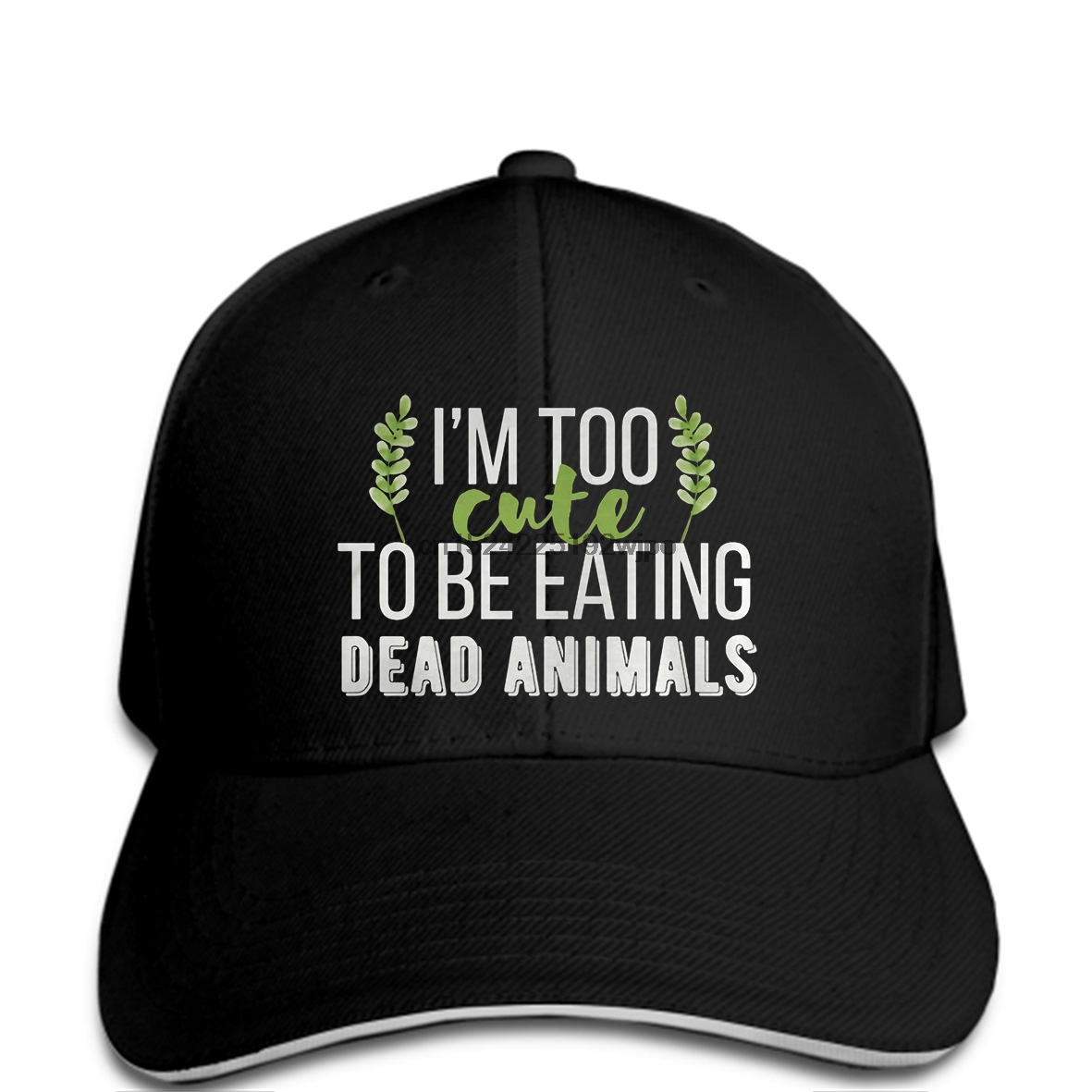 Us 99 Funny Baseball Cap Vegan Quotes Im Too Cute To Be Eating Dead Anim Cap Cap Men In Mens Baseball Caps From Apparel Accessories On Aliexpress
