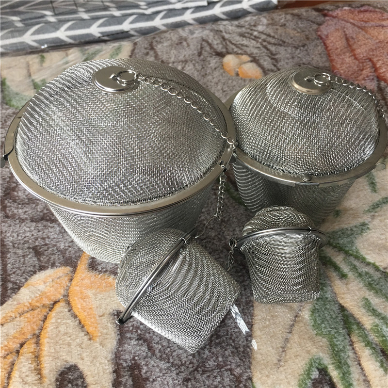 big stainless steel tea infuser mug strainer Mesh loose tea leaf coffee spice ball filter for teapot home kitchen accessories