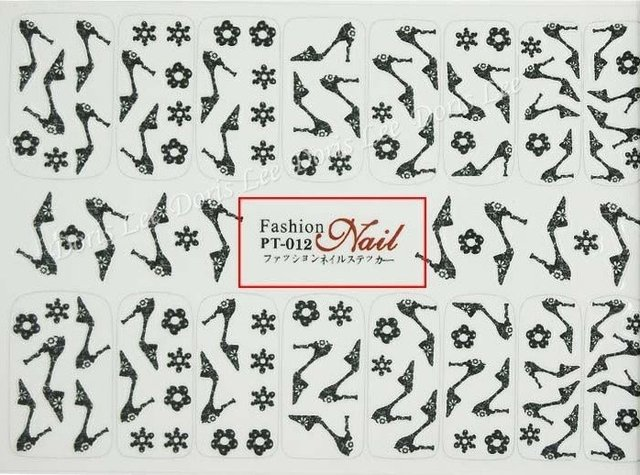 45pcs/lot + Free Shipping,15cmx9cm Big Pattern Nail Sticker / Nail Decals 45 Different Styles Available