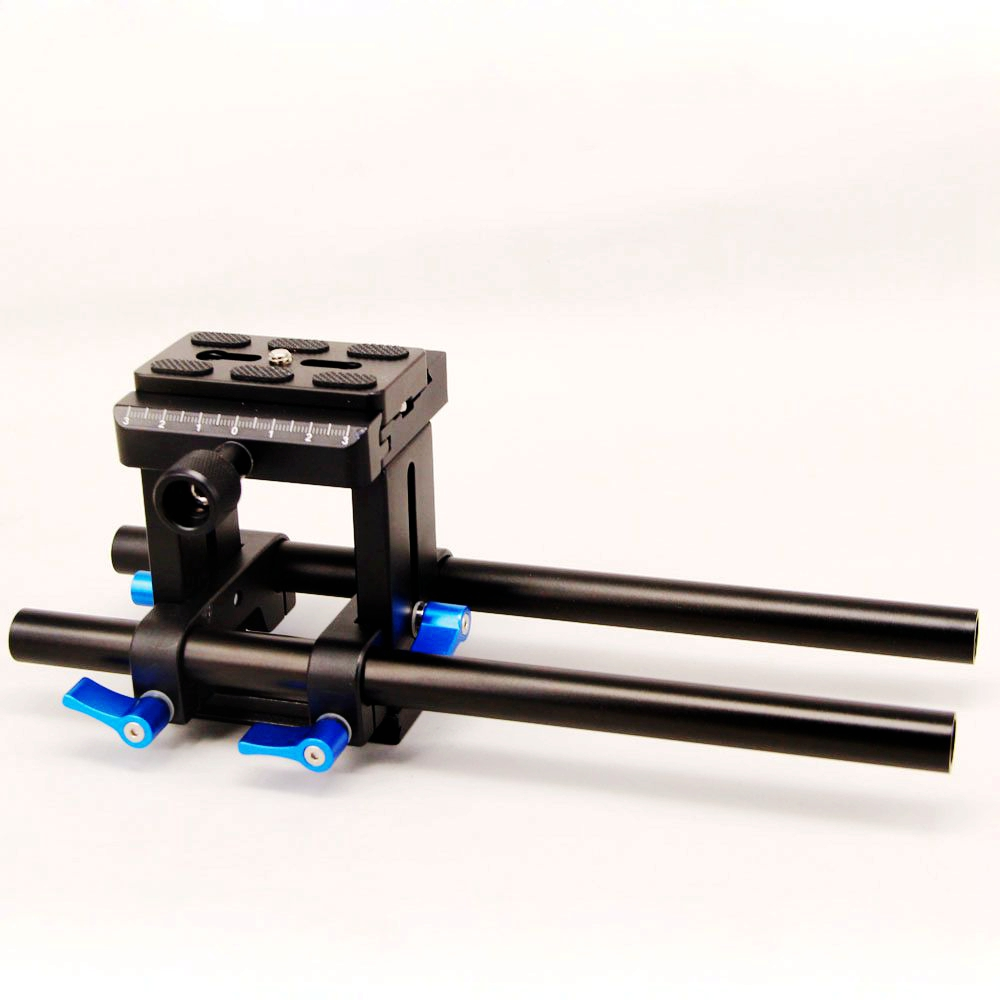 15mm Rod Rail Rig Support System Baseplate For Canon Nikon Follow Focus DSLR цена