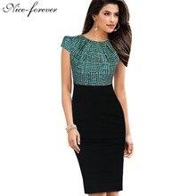 Stylish Elegant Casual Work O-Neck Bodycon Dress