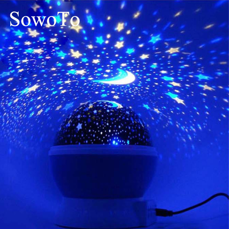 Lampa Projektora Kolorowe Obrotowa Miga Led Light Night