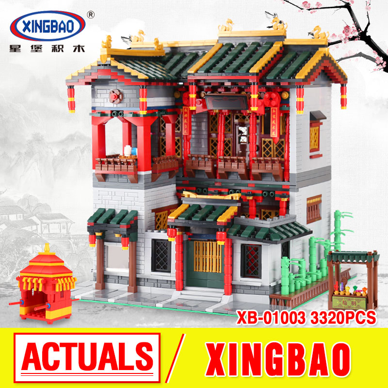 XingBao 01003 MOC 3320Pcs Series The Chinese Traditional Architecture  Children Educational Building Blocks Bricks funny Toy mini architecture series 4 cubicfun 3d educational puzzle paper