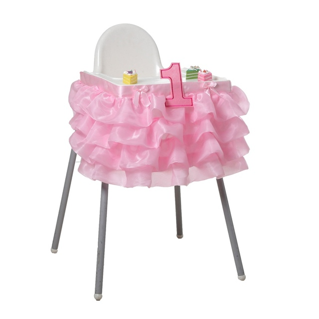 Baby Birthday Decoration Baby High Chair Tutu/table Skirt Baby Shower First  Birthday Party Tutus