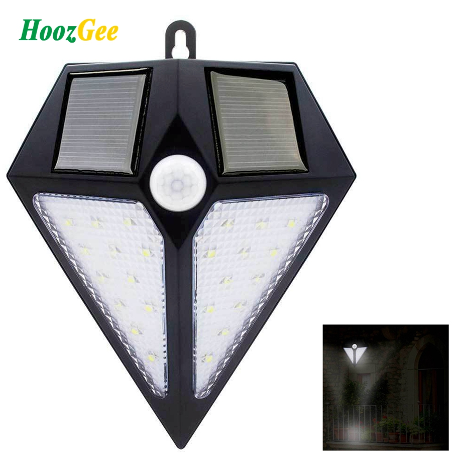 HoozGee Solar Wall Lights Outdoor PIR Motion Sensor 6/24 LED Super Bright Security Lighting Garden Street Lamp Waterproof emergency auto led solar panel double head lights motion sensor outdoor garden waterproof lamp spotlights super bright lighting