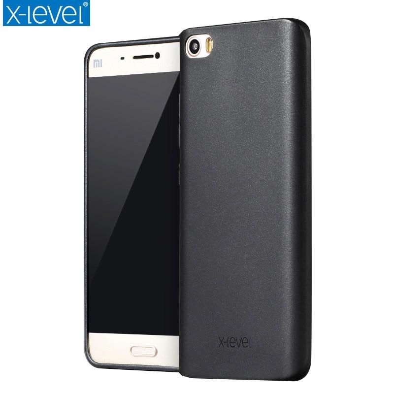 X-Level Guardian Soft Matte TPU Case for Xiaomi Mi 5 Scrub Back Cover for Xiaomi Mi5 M5 Pro Frostd Silicone Case Quality Cover