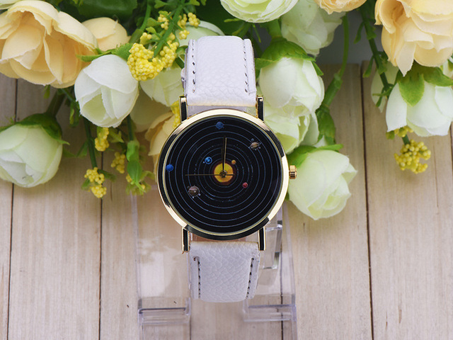 Venus, Mars, Jupiter, Saturn Pattern Strap Watch Leisure Student Children's Watch New Style Relojes Infantiles Solar Watch
