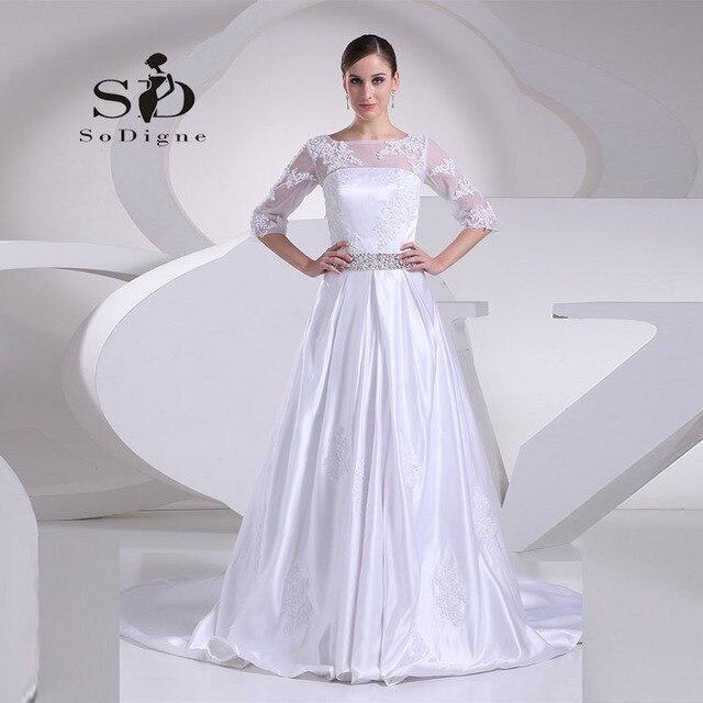 Wedding Dress 2018 SoDigne Scoop Lace Applique Beaded