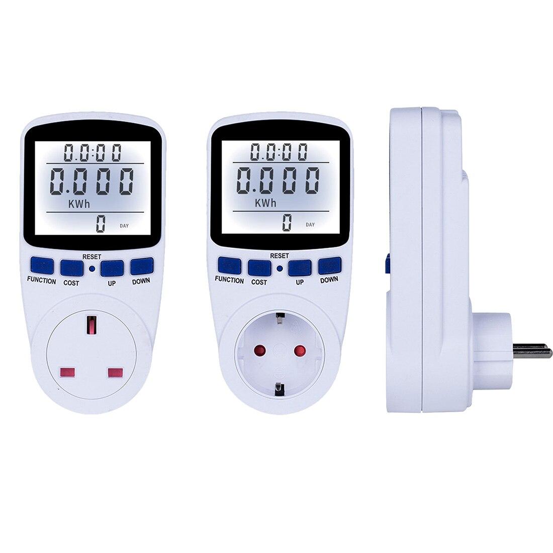 Vatímetro Digital con enchufe UE/EE. UU./Reino Unido, Analizador de potencia electrónico, medidor de energía, interruptor de alimentación automático Kwh, 1 ud.