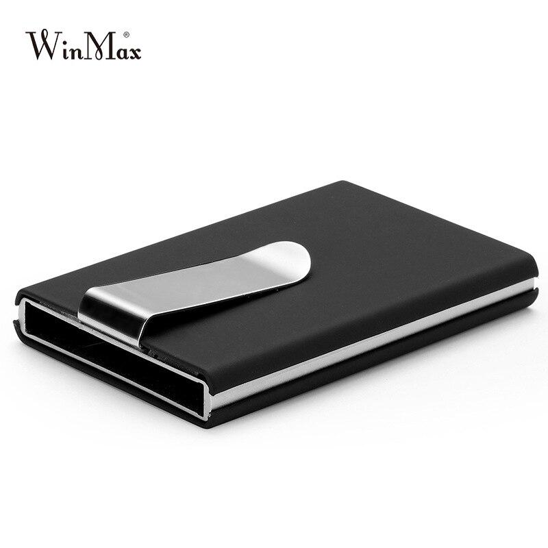 High QualitId credit card holder Automatic card sets business aluminum wallet Solid color card sets card wallet cash clip holder