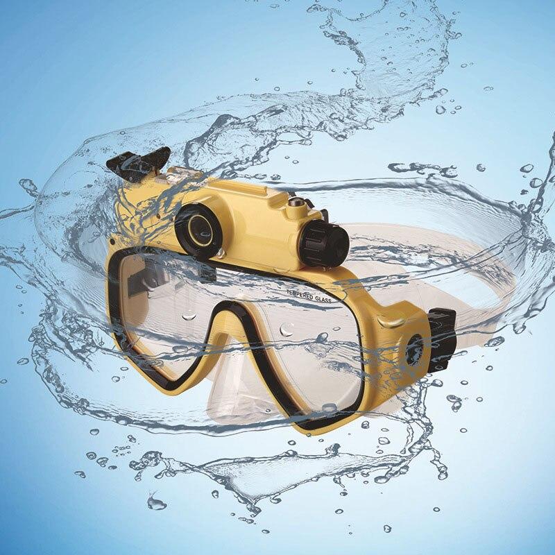 Adultes étanche HD 720p numérique grand Angle caméra vidéo caméscopes masque de plongée avec ceinture réglable lumière LED utilisation de natation - 2