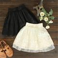 New 2016 Spring Summer Fashion Cute Lace Flower Teenagers Skirt Mini Princess Children Skirt Suit 12~20 Age Girls Tutu Skirt