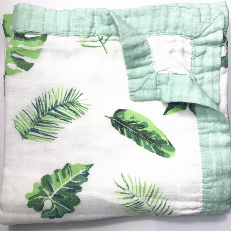 Fruit Series Four Layer Bamboo Baby Muslin Blanket  Muslin Tree Swaddle Better Than Aden Anais Baby/bamboo Blanket Infant Wrap