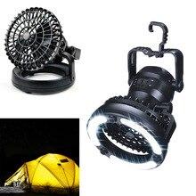 Nouveau 2-en-1 En Plein Air Alimenté Par Batterie 18 LED Lampe Lanternes Avec Ventilateur de Plafond