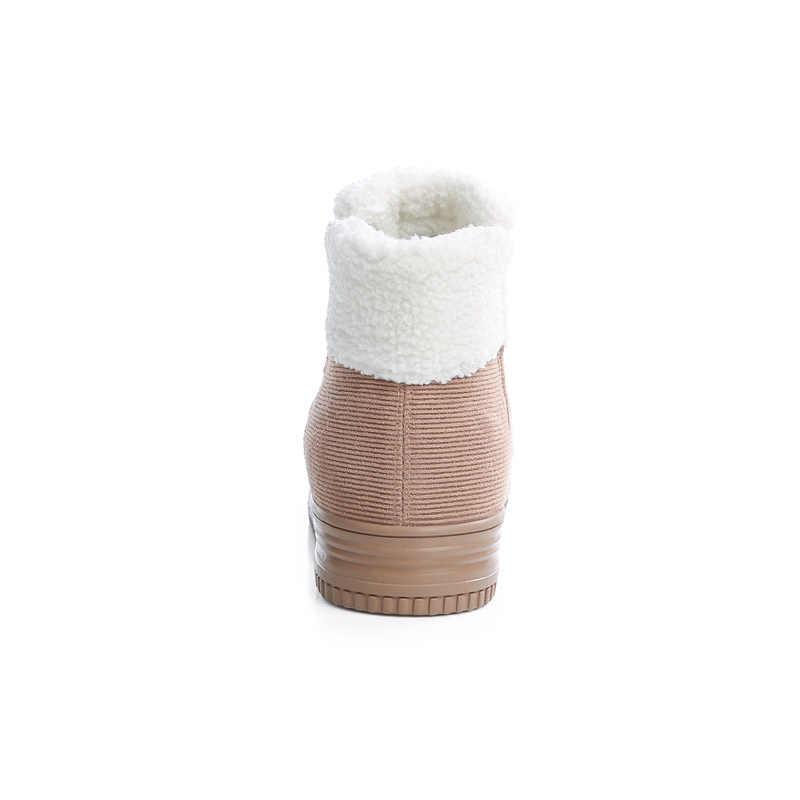 2018 Donne Inverno Neve Stivali della Caviglia delle Donne Stivali Piatti antiscivolo Inverno Termico Pelliccia Scarpe Calde Cotone Stivali Botas Mujer