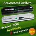 Portátil Batería BTY-S11 BTY-S12 de Msi X100 X100-G X100-L Akoya Mini E1210 Wind U100 U90 Wind12 U200 U210 U230 negro 9 células