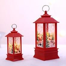 Светодиодная Рождественская свеча с держателем для чая светящиеся