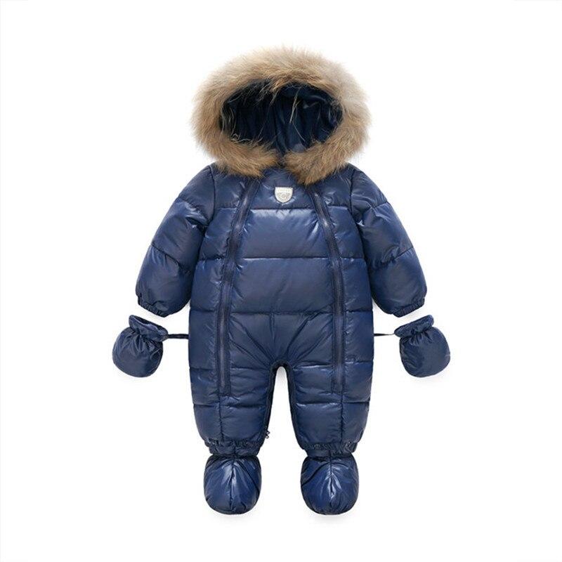 64d671f5a9be 2018 Baby Winter Girls Outerwear Boys Snow Wear Romper Newborn ...