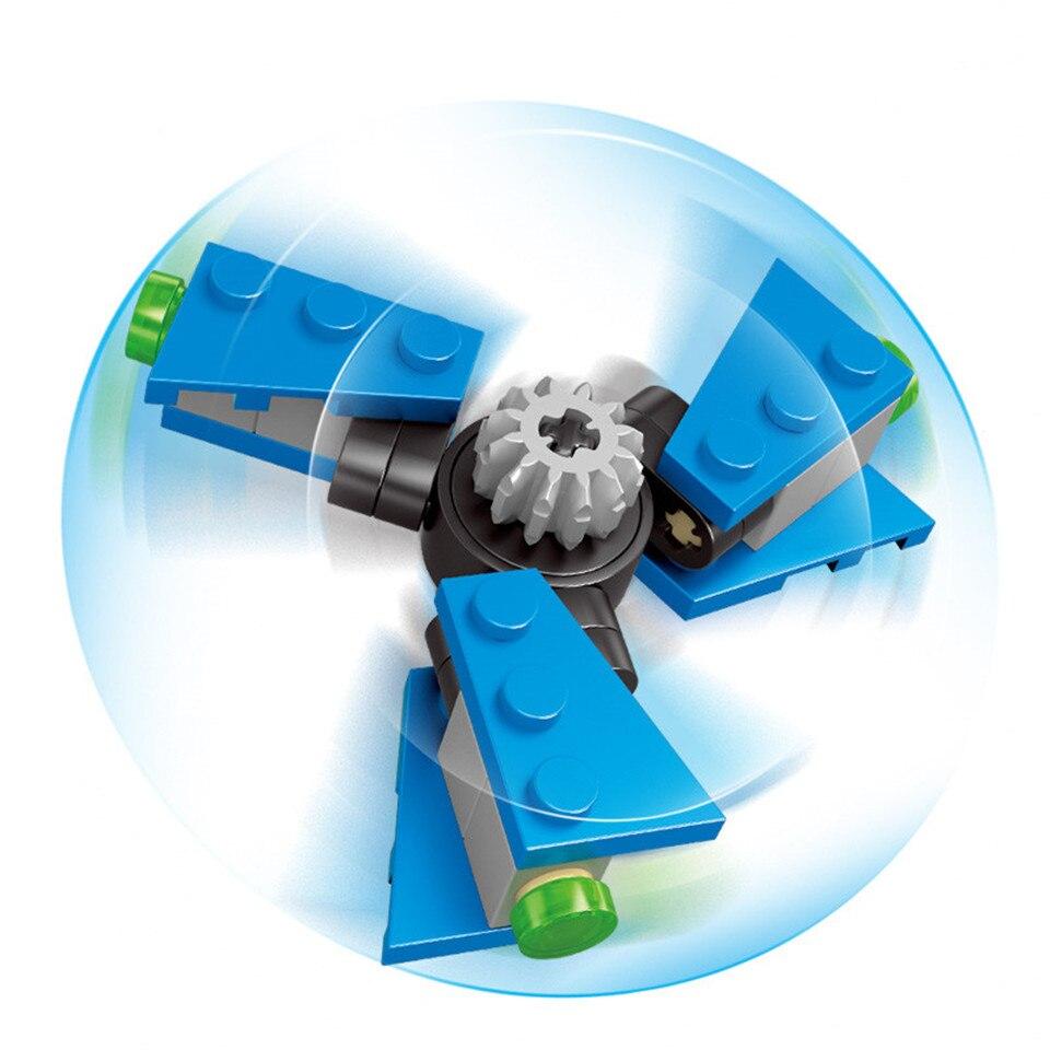 Fidget Spinner Finger Enlighten Building Blocks Hand Spinning Top Children Toy DIY Gift Stress Relief Beyblade Toy Sets K2615-6 ...