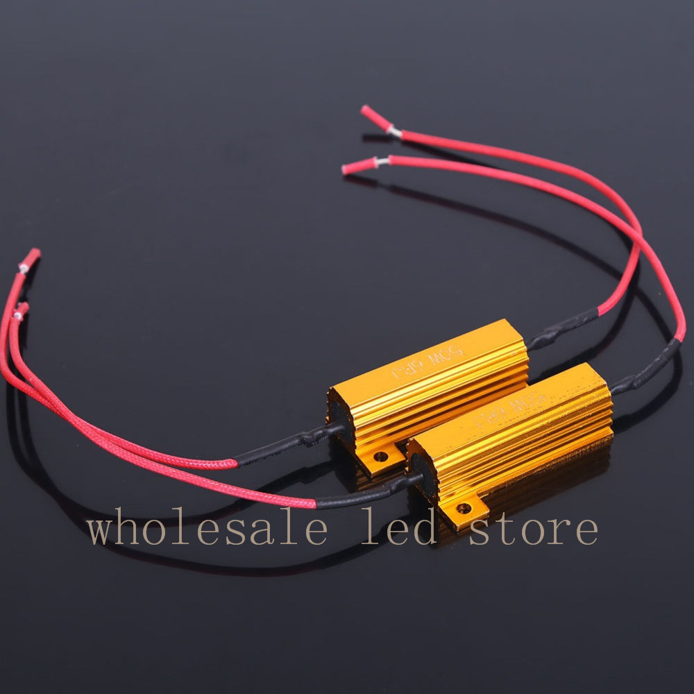 2pcs 50w Fuse 6ohm Led Bulb Light Turn Signal Load Resistor Circuit Calculator Calculation Equalizer Resistance Fix Error Flash Blinker Warning Controller Capacitor In Car Headlight Bulbsled From