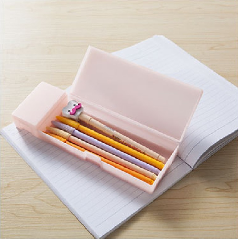 Korean Cute Stationery Plastic Frosted Pencil Box Case Muji Style ...
