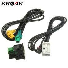 Автомобиль USB AUX аудио-видео кабель переключатель разъем для VW Passat B6 B7 cc поло подтяжку лица RCD510 +/310 300 + автомобиля AUX и переключатель USB кабель