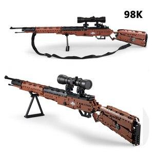 Image 2 - リボルバーピストル銃 swat 軍 WW2 武器 98 18k デザートイーグル短機関モデルビルディング · ブロック工事用